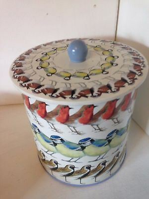 Fantastic Emma Bridgewater Bird Design Lidded Biscuit Storage Tin