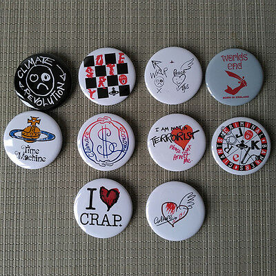 10 Vivienne Westwood / Worlds End Button Pins Badges / 2.25 Inch / 56 mm