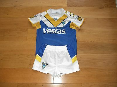 ISC Warrington Wolves Rugby Shirt/top/jersey + shorts kit/child age 12 years