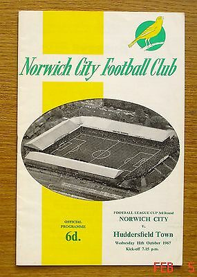 Norwich City v Huddersfield Town. League Cup, 1967.