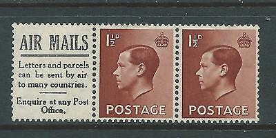 Pair of mounted MINT EdVIII stamps with advert label.