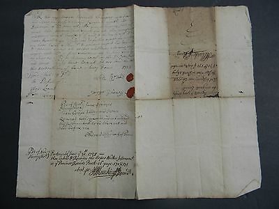 1728 Antique New Hampshire Colonial Manuscript Deed Owen Runalls & George Veasey