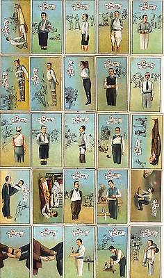 Very rare BDV full set of 25 first aid and ambulance themed cigarette cards 1914