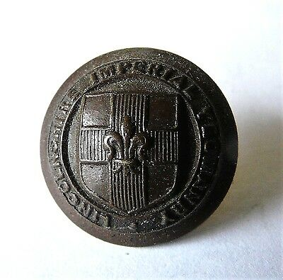 Lincolnshire Imperial Yeomanry 18mm (1901-1908) Bronze military button(ARMFIELD)