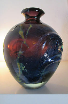 Superb Early Pulled-Ear Vase, Signed 'Mdina' By Michael Harris, 1969-72