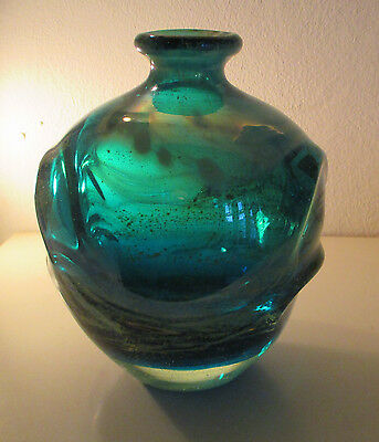 Stunning Early Mdina Pulled Ear Vase, Signed 'Mdina' By Eric Dobson, 1969-72