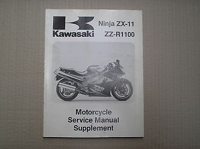 Kawasaki ZZR1100 ZX1100 C1 1990 genuine service manual SUPPLEMENT 99924-1127USED