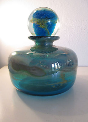 Stunning Early Mdina Art Bottle, Signed 'Mdina' By Michael Harris, 1969-72