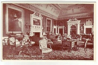 Large Drawing Room Blair Castle Photo Taken 1938 Card Published 1954 Valentines