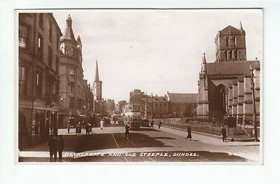 Nethergate And Old Steeple Dundee 1939 Real Photograph Posted 22 Jun 1949