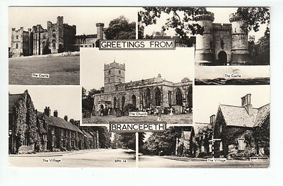 Brancepeth Village Church And Castle Durham Real Photograph Old Postcard