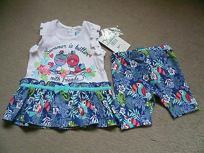 NWT cute baby dress 3-6 months plus matching shorts 0-6 months
