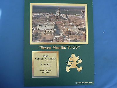 DISNEY 1996 COLLECTORS SERIES Print  1 of 12 CAST LE  Seven Months to Go RARE