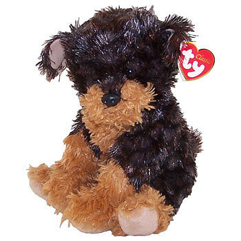 TY Classic Plush - YAPPER the Dog (Dark Version) (9 inch) Rare! - MWMTs New