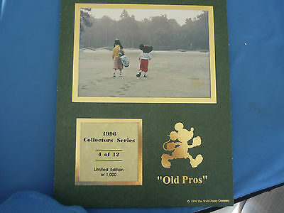 DISNEY 1996 COLLECTORS SERIES Print  4 of 12 CAST LE  OLD PROS Golf Golfing