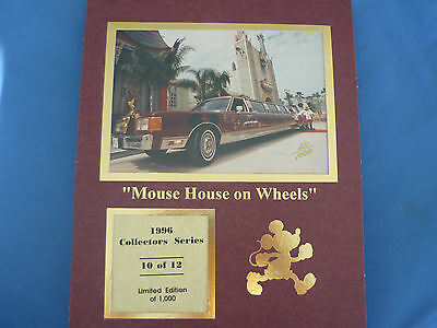 DISNEY 1996 COLLECTORS SERIES Print  10 Of 12 CAST Mouse House On Wheels LE1000