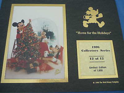 DISNEY 1996 COLLECTORS SERIES Print  12 Of 12 CAST Home For THe HOLIDAYS  LE1000