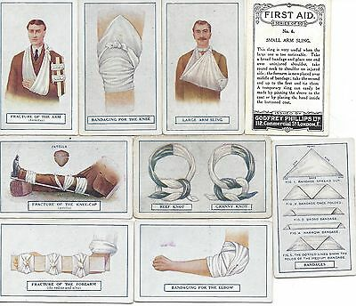 Rare Godfrey Phillips cigarette cards First Aid full set x50 1923