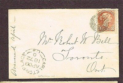 Canada Small Queen Carleton Place 1872 Ring Cancel
