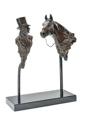 Limited edition bronze of Sir Henry Cecil and Frankel