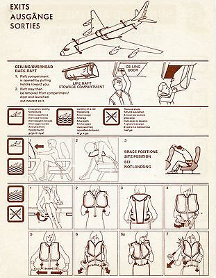 Airliner Safety Card Sun Land DC8