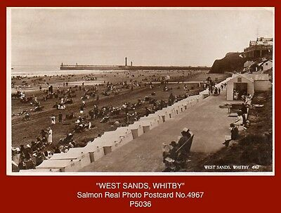 """Collection x5 early Gloss Real Photo Postcards of """"WHITBY"""" (North Yorkshire)"""