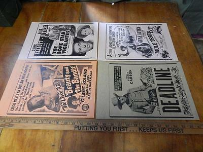 Western Movie Poster Lot X 4, Tex Ritter, Gene Autry, Sunset Carson!