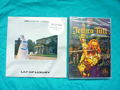 """7"""" Jethro Tull - Lap Of Luxury - Unplayed Double Pack - Tull1 + Sealed  Dvd"""