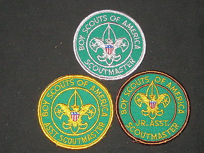 Scoutmaster, Asst Scoutmaster & JASM 1970 Revision, with title       c32