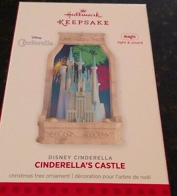 2013 Hallmark  Cinderella's Castle Magic Lighted Disney Pixars Ornament