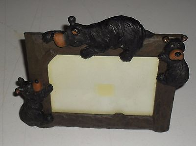 Beautiful Adirondack Bear Picture Frame Rustic Cabin Country Living Cabin Decor