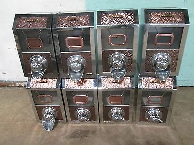 Lot Of (8) H.d. Commercial S.s. Coffee Beans Display Merchandiser / Dispenser