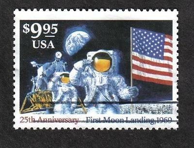 #2842 $9.95 Moon Landing, Used Single, Off Paper