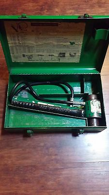 Greenlee knockout punch and metal case