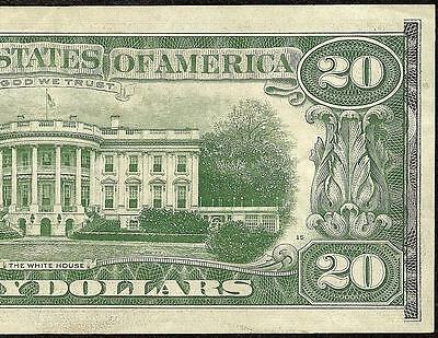 1963 A $20 Dollar Bill Offset Print Error Federal Reserve Note Crisp Currency