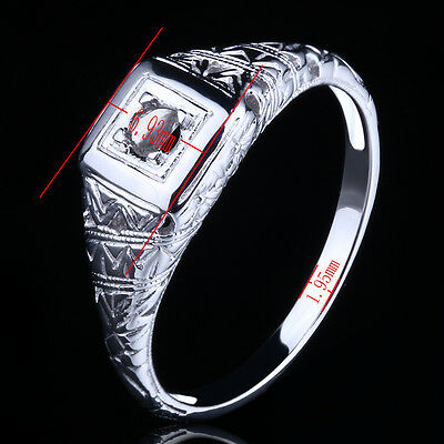 Sterling Silver 925 Semi-Mount Engagement Wedding Ring Round Cut 2.75-3.25mm