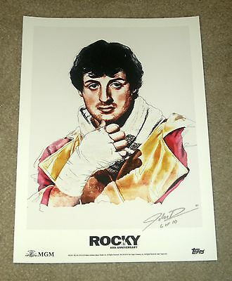 2016 Topps 40th Anniversary Rocky Visualizing Victory Fine Art Print 6 of 10