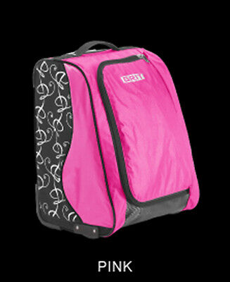 "New GRIT Figure Skating Bag Duffels 20"" Tall FOLD AWAY Black Pink SK2"