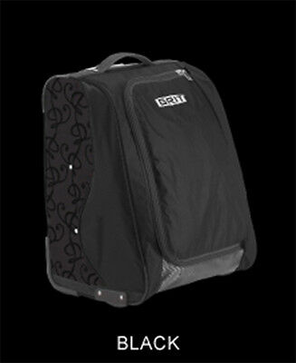 "New GRIT Figure Skating Bag Duffels 20"" Tall FOLD AWAY Black Black SK2"