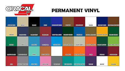 Oracal Vinyl 12 Inches X 7 feet Roll - Different Colors to choose from