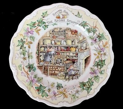 Royal Doulton Brambly Hedge THE STORE STUMP Plate 1984 Jill Barklem As Is