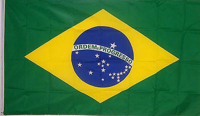 NEW 3ftx5 BRAZIL FLAG COUNTRY BANNER BRAZILIAN FLAGS