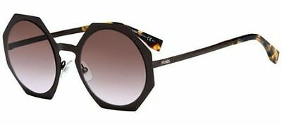 5655d4ebf7 Authentic Fendi FACETS FF 0152 S 2X3 LW matte brown violet shaded Sunglasses