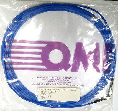 "Sma Cable 180"" 15' - Qmi/tensolite/carlisle 1-3636-461-1180 - *unused* *nib*"