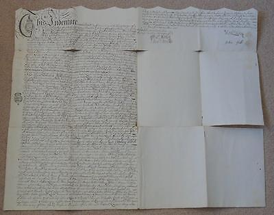 1755 George II Period Indenture, Antique Paper with Ornate handwriting Signed