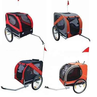 Orange/Red Pet Bike Trailer Dog Bicycle Stroller Foldable Cat Pram Lassie/Rex