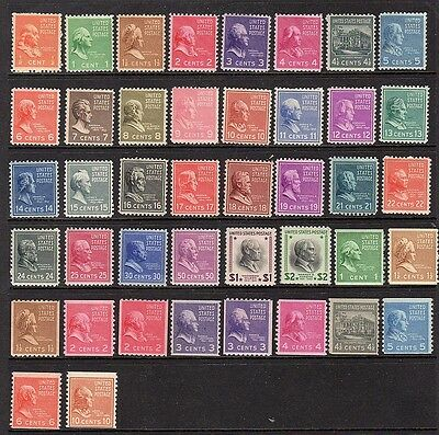 United States - 1939 - Presidential series - mnh collection