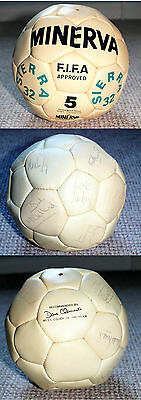 Northern Ireland Mexico World Cup 1986 Squad Signed Football