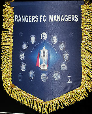 glasgow rangers the managers 14inx12in colour pennant