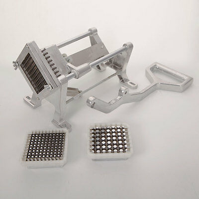 Potato French Fry Fruit Vegetable Cutter Slicer Commercial Quality W 3 Blades